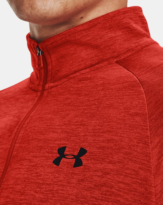 Men's UA Tech™ ½ Zip Long Sleeve, Orange, pdpMainDesktop image number 3