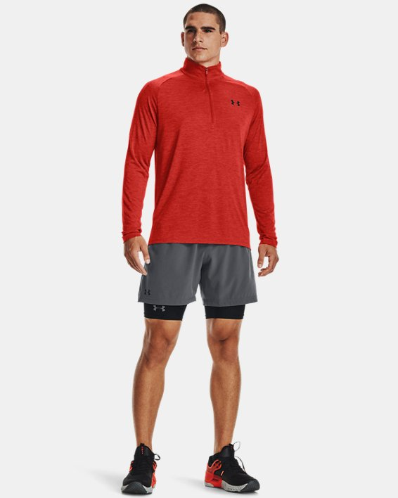 Men's UA Tech™ ½ Zip Long Sleeve, Orange, pdpMainDesktop image number 2