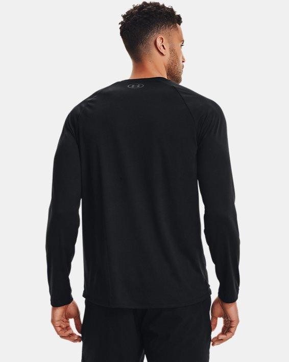 Men's UA Tech™ Long Sleeve, Black, pdpMainDesktop image number 3