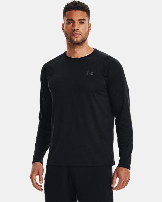 Men's UA Tech™ Long Sleeve, Black, pdpMainDesktop image number 2