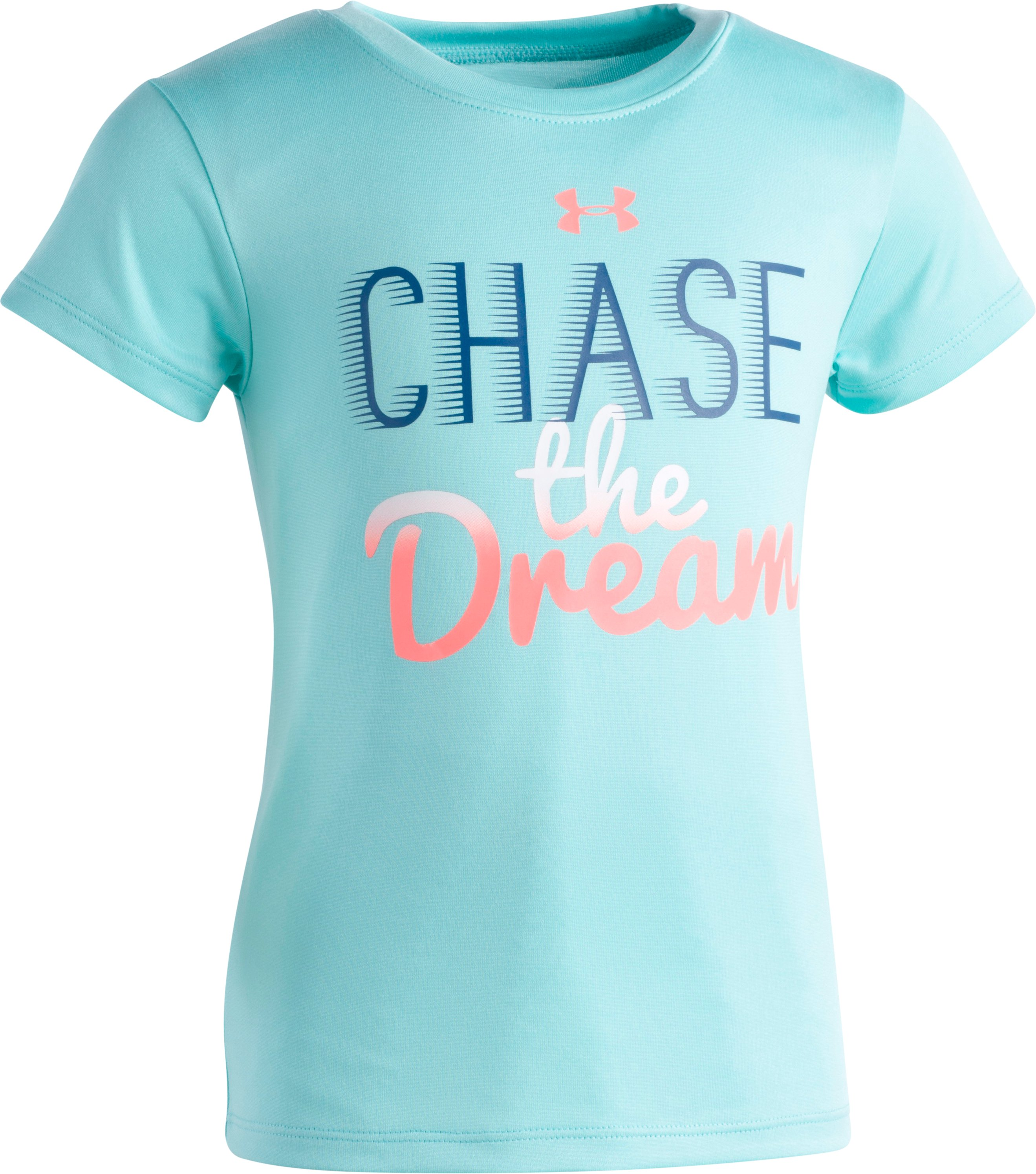 Girls' Pre-School UA Chase The Dream T-Shirt, TROPICAL TIDE, zoomed