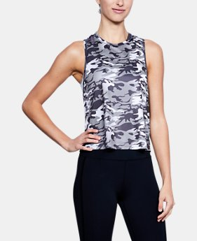 New Arrival Women's UA x Project Rock Camo Twist Back Tank  1 Color $34.99