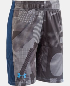 Boys' Pre-School UA Alpha Stunt Shorts  1  Color $25