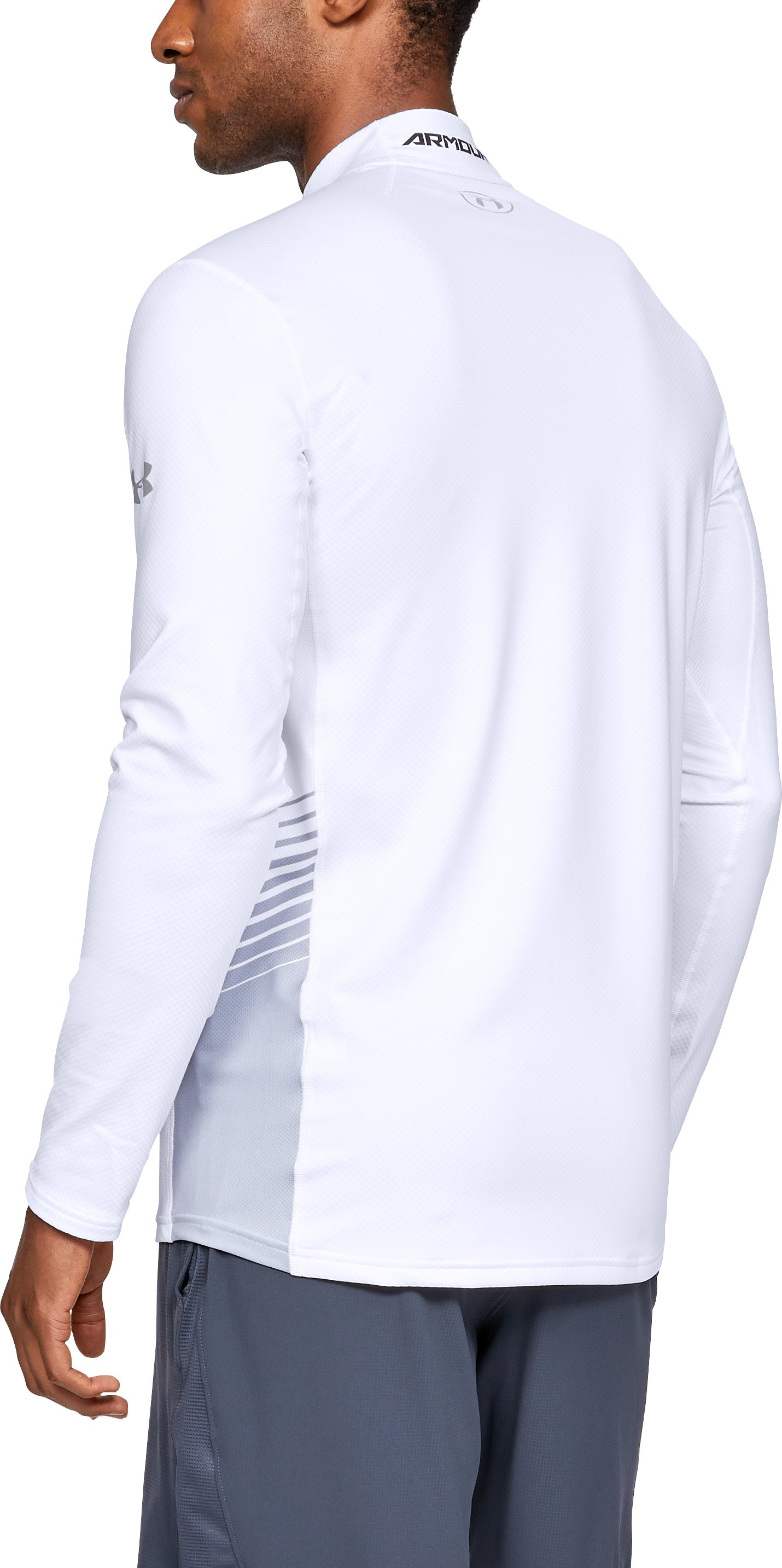 Men's ColdGear® Reactor Long Sleeve Shirt, White,