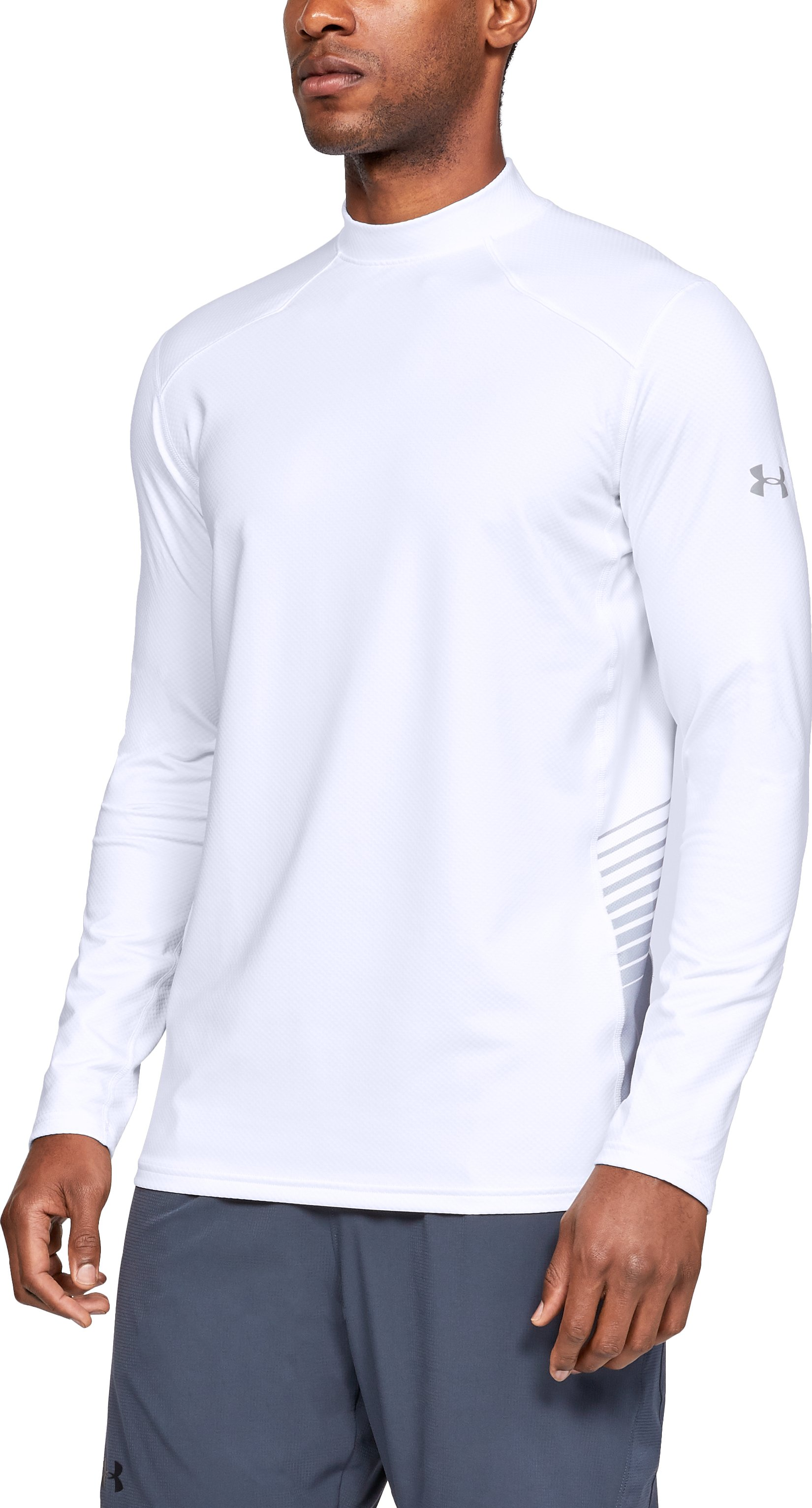 Men's ColdGear® Reactor Long Sleeve Shirt, White, zoomed