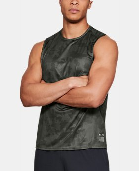 New Arrival Men's UA x Project Rock Camo Muscle Tank  1 Color $34.99