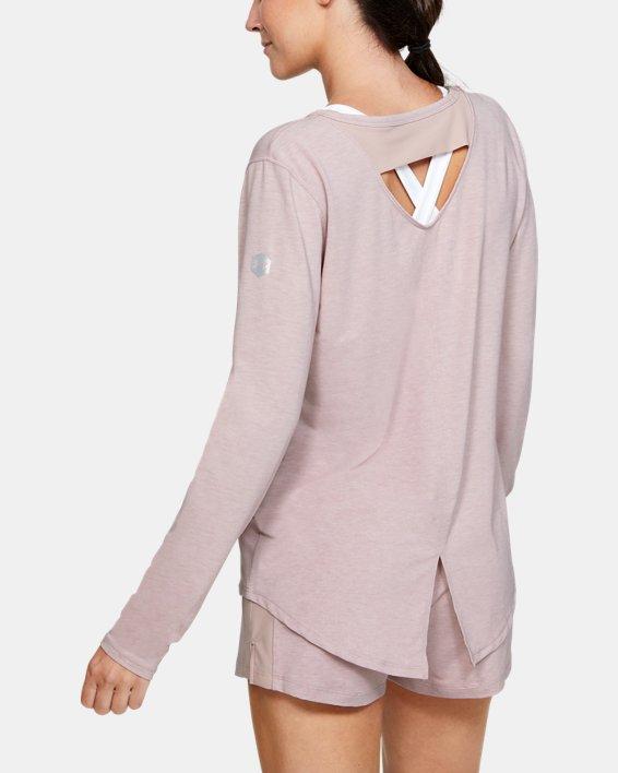 Women's UA RECOVER™ Sleepwear Long Sleeve, Pink, pdpMainDesktop image number 2