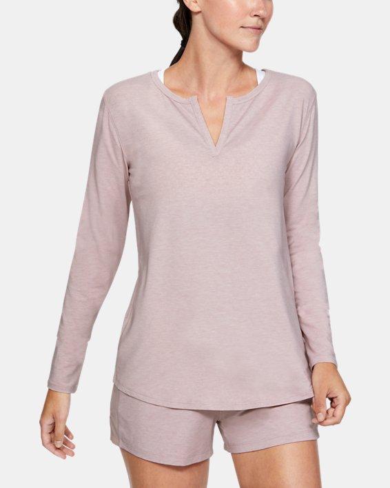 Women's UA RECOVER™ Sleepwear Long Sleeve, Pink, pdpMainDesktop image number 0