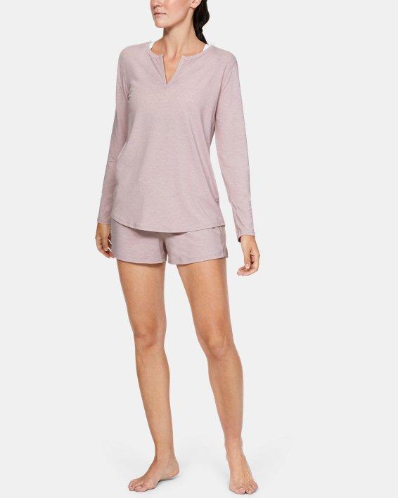 Women's UA RECOVER™ Sleepwear Long Sleeve, Pink, pdpMainDesktop image number 1
