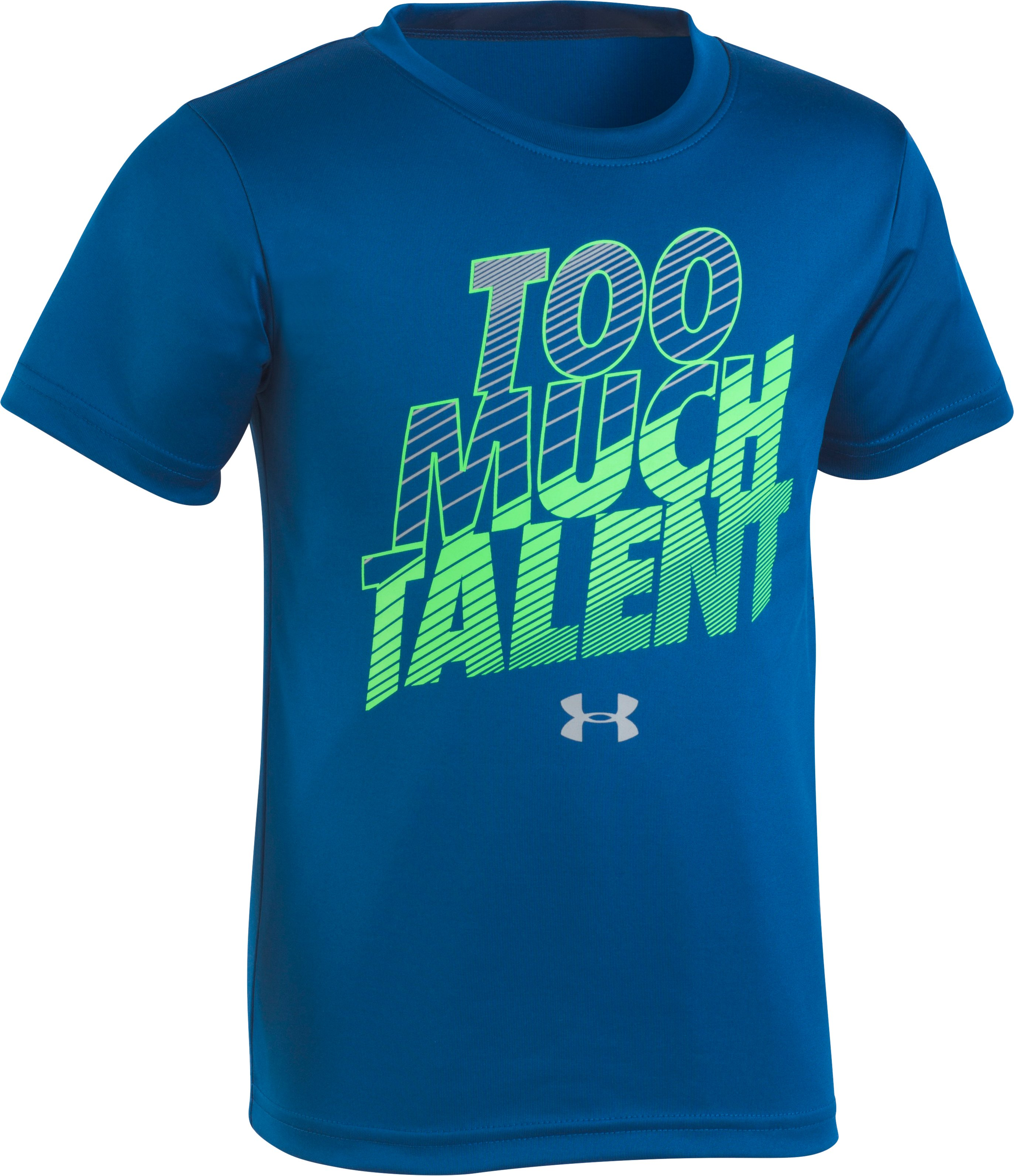 Boys' Pre-School UA Too Much Talent T-Shirt , Moroccan Blue, zoomed