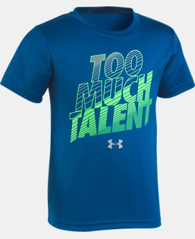 New Arrival Boys' Pre-School UA Too Much Talent T-Shirt   1 Color $18