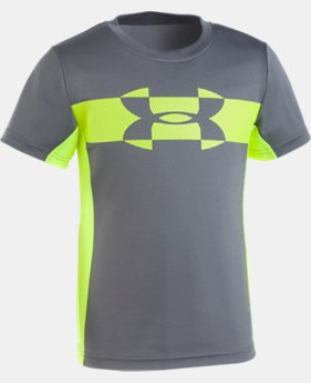 New Arrival Boys' Pre-School UA Mesh Logo Tech T-Shirt   2 Colors $25