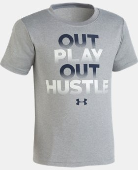 Boys' Pre-School UA Out Play Out Hustle Short Sleeve  1  Color Available $18