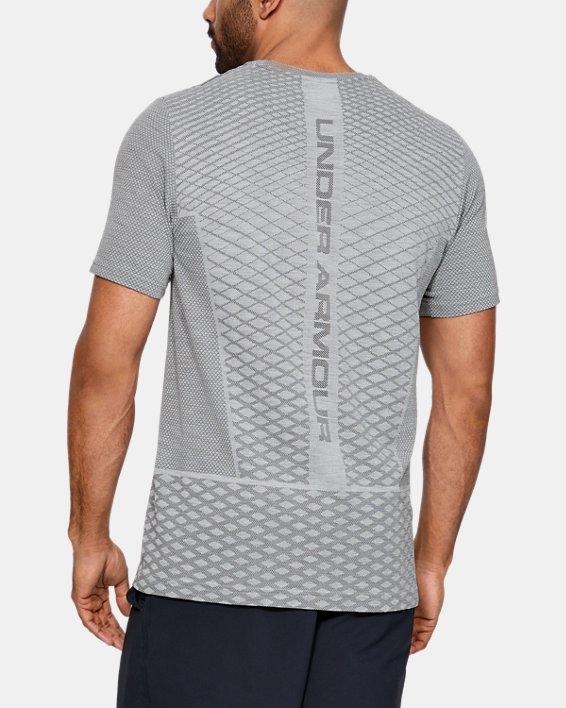 Haut à manches courtes sans coutures UA Vanish pour homme, Gray, pdpMainDesktop image number 3