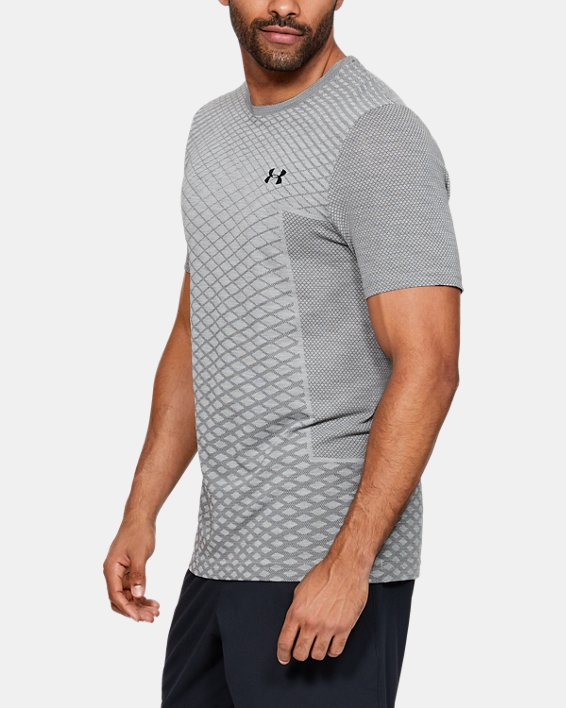 Men's UA Vanish Seamless Short Sleeve, Gray, pdpMainDesktop image number 0