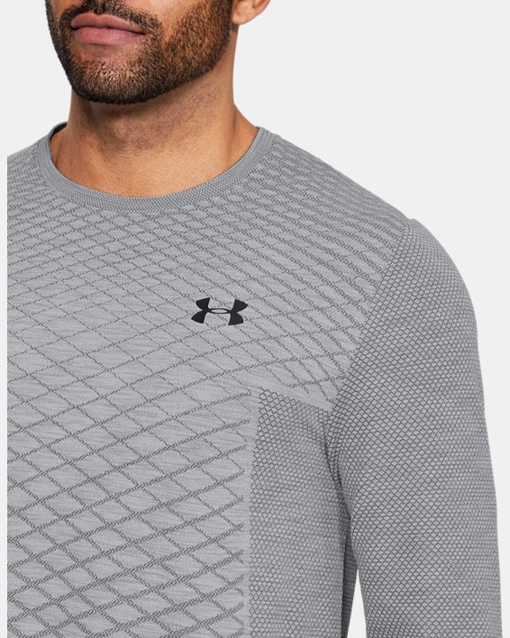 Men's UA Vanish Seamless Long Sleeve, Gray, pdpMainDesktop image number 5