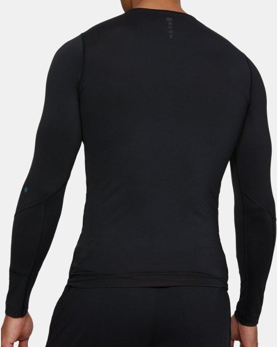 Men's UA RUSH™ Compression Long Sleeve, Black, pdpMainDesktop image number 2