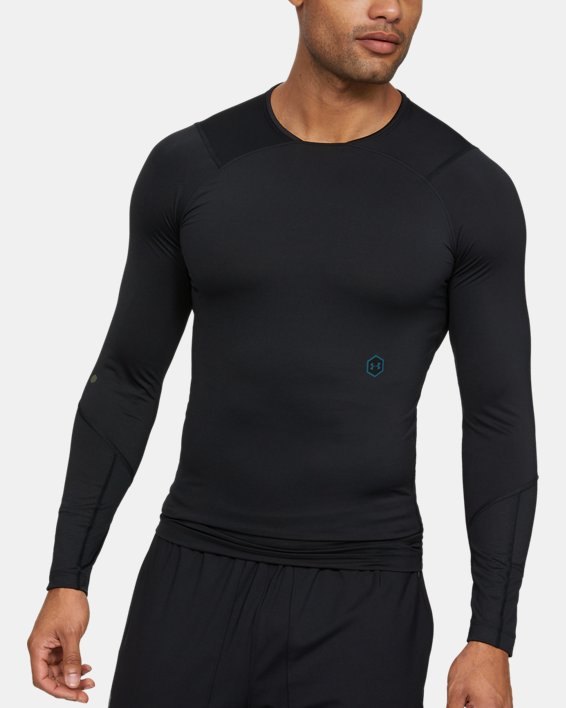 Men's UA RUSH™ Compression Long Sleeve, Black, pdpMainDesktop image number 1