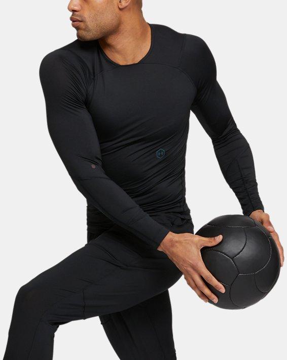 Men's UA RUSH™ Compression Long Sleeve, Black, pdpMainDesktop image number 0