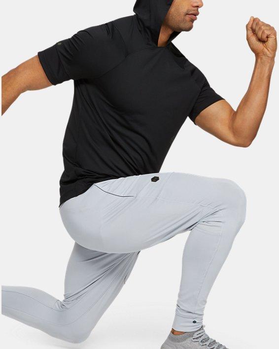 Men's UA RUSH™ Short Sleeve Hoodie, Black, pdpMainDesktop image number 1