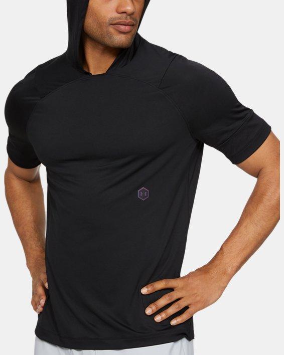 Men's UA RUSH™ Short Sleeve Hoodie, Black, pdpMainDesktop image number 0