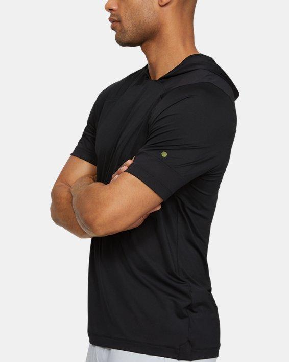 Men's UA RUSH™ Short Sleeve Hoodie, Black, pdpMainDesktop image number 3