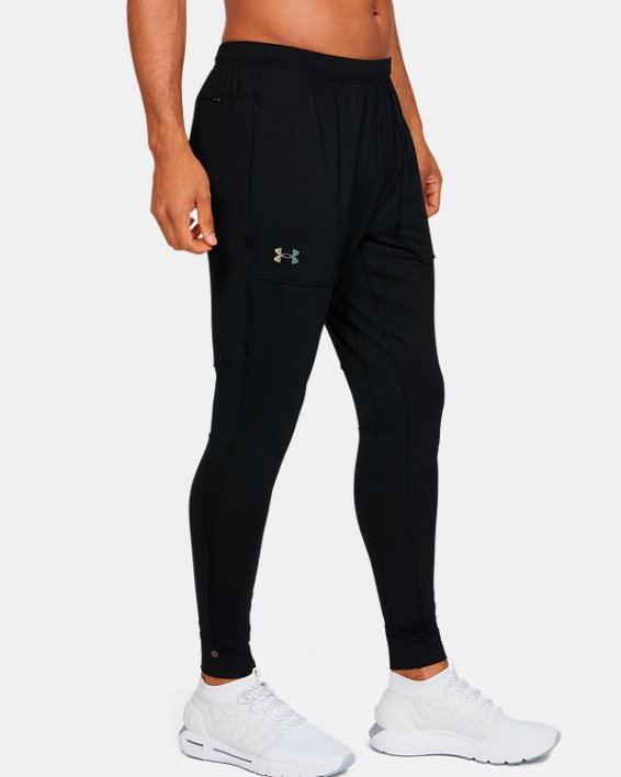 Men's UA RUSH™ Fitted Pants, Black, pdpMainDesktop image number 3