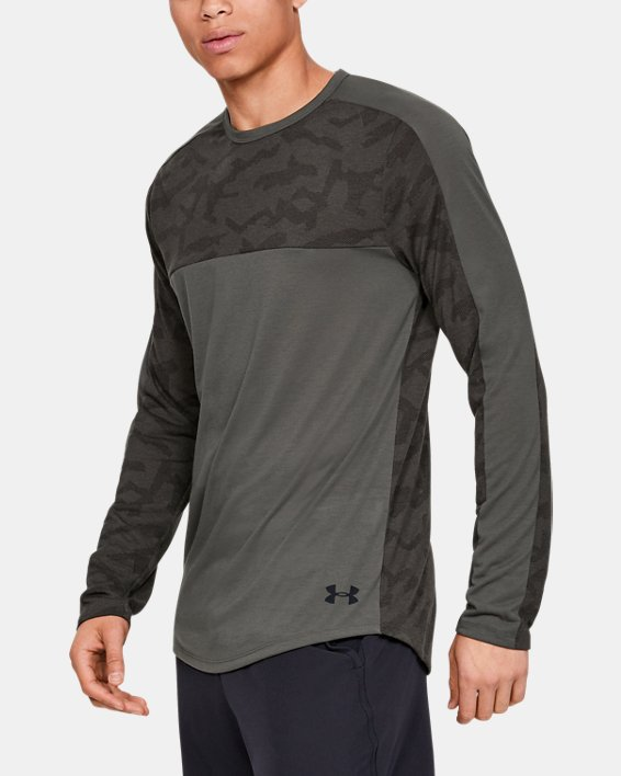 Men's UA Siro Elite Long Sleeve, Gray, pdpMainDesktop image number 0