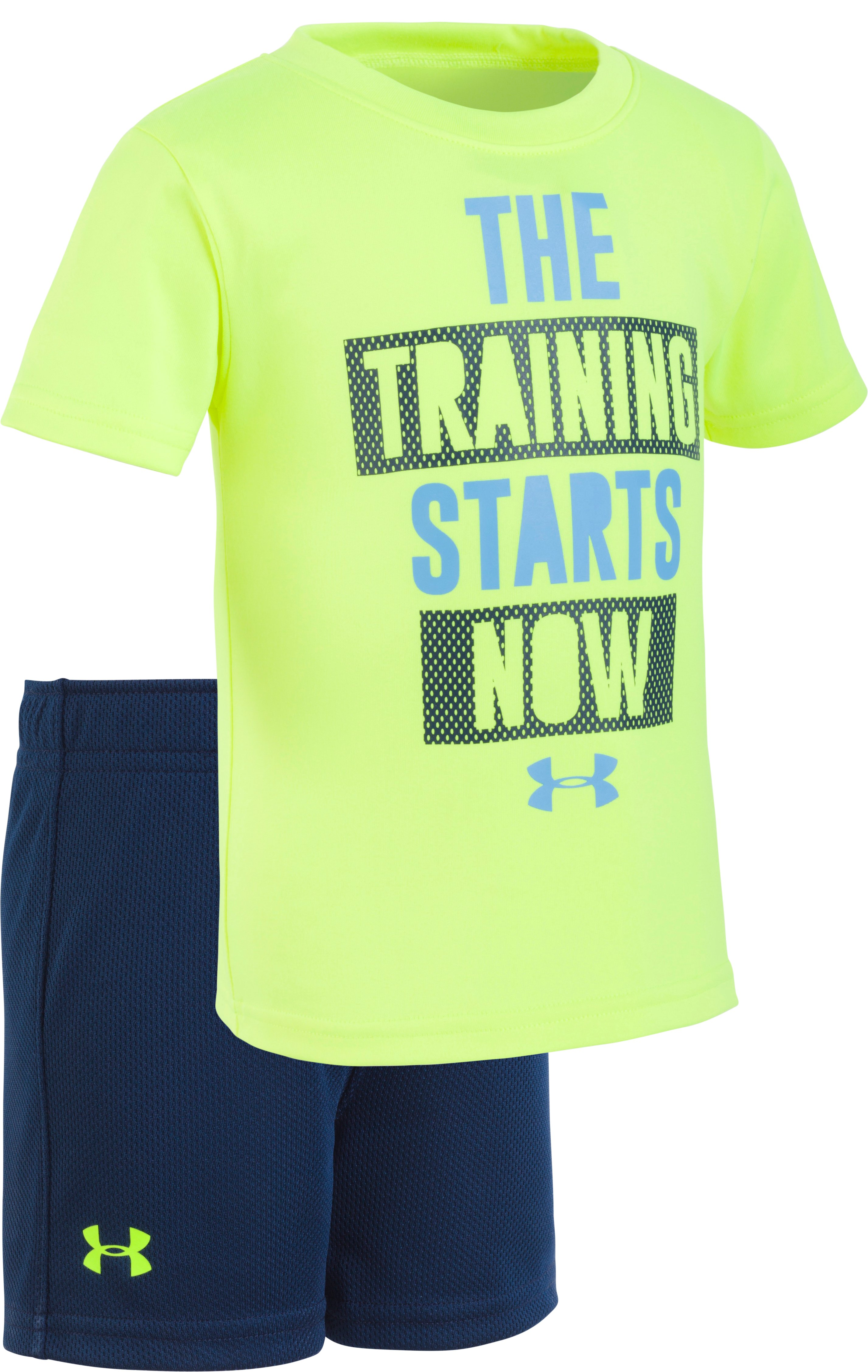 Boys' Infant UA The Training Starts Now Set , High-Vis Yellow, Laydown