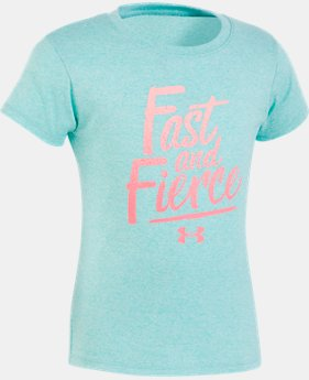 New Arrival Girls' Pre-School UA Fast & Fierce T-Shirt   1  Color $18