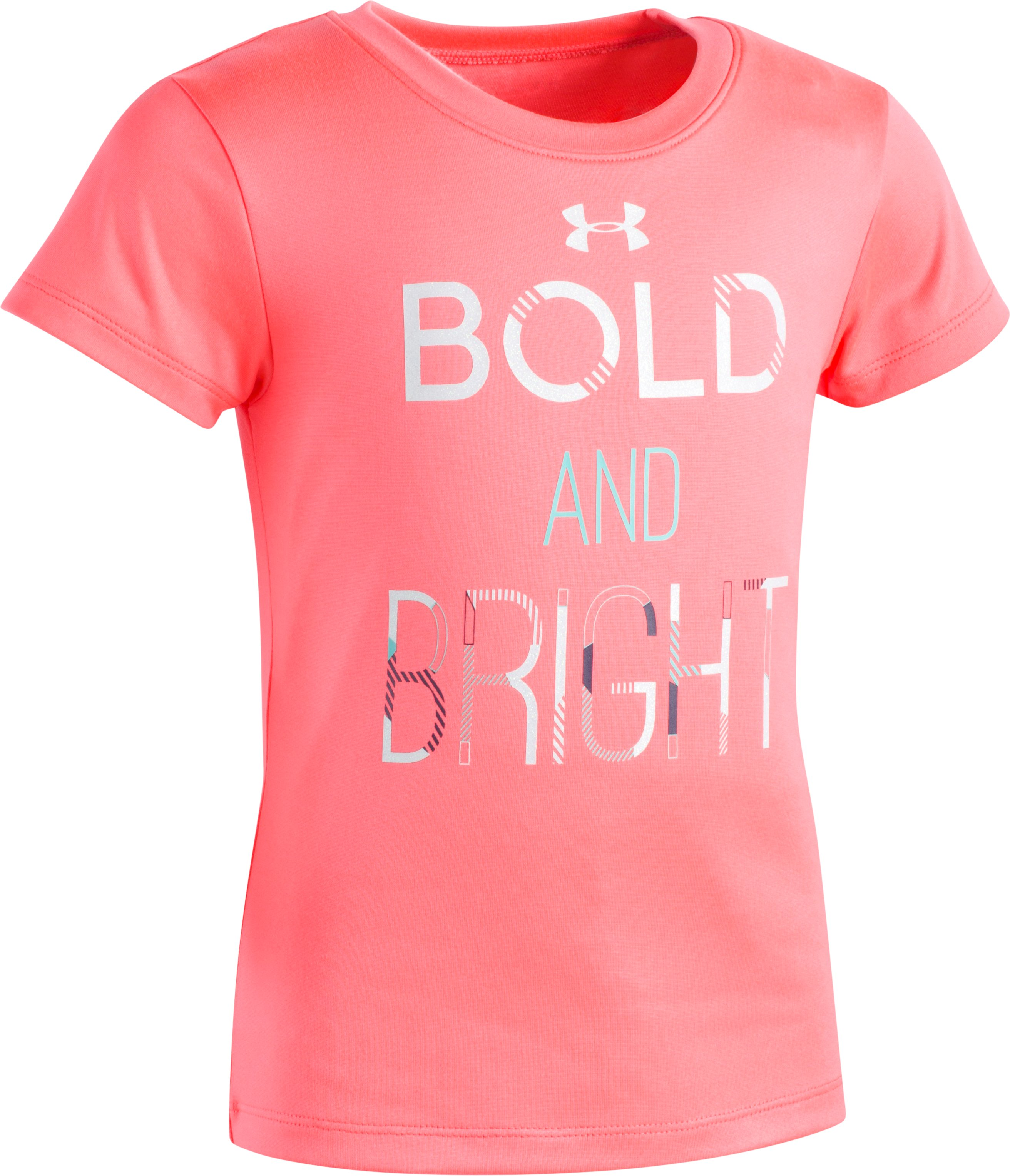 Girls' Pre-School UA Bold & Bright T-Shirt, BRILLIANCE, Laydown