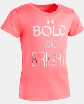 New Arrival Girls' Pre-School UA Bold & Bright T-Shirt FREE U.S. SHIPPING 1  Color Available $18