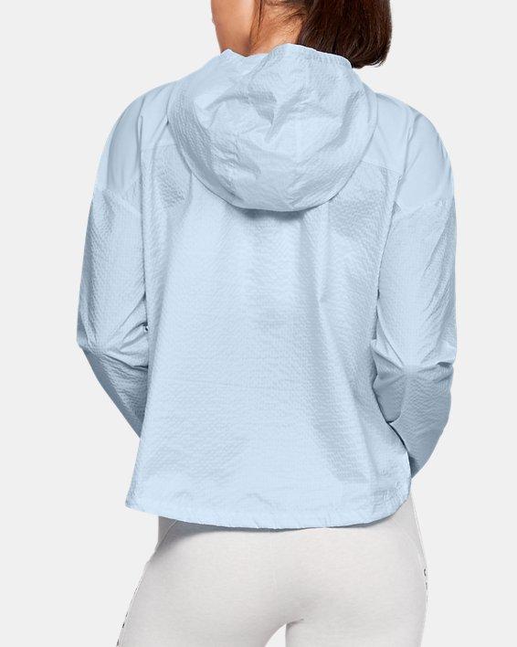 Women's UA Hybrid Woven Jacket, Blue, pdpMainDesktop image number 2