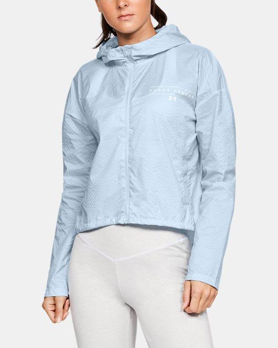 Women's UA Hybrid Woven Jacket, Blue, pdpMainDesktop image number 0