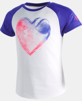 New Arrival Girls' Toddler UA Home Plate Heart T-Shirt   1  Color Available $20