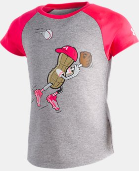 New Arrival Girls' Toddler UA Outfielder Peanut T-Shirt   1  Color Available $20