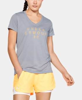 68ae73bc5e46 Women s UA Tech™ Short Sleeve V-Neck Graphic 7 Colors Available  16.99 to   22.98