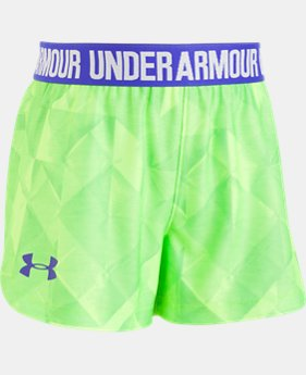 New Arrival Girls' Toddler UA Tri-Fold Play Up Shorts  1 Color $20