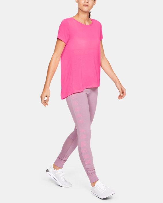 Women's UA Whisperlight Short Sleeve Foldover, Pink, pdpMainDesktop image number 1