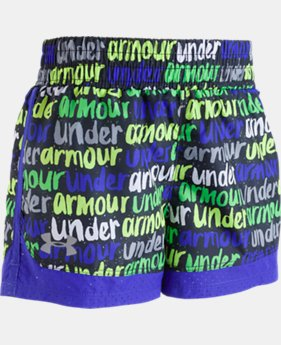 Girls' Pre-School UA Brushmark Run Shorts  1  Color $22