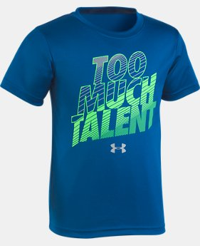New Arrival Boys' Toddler UA Too Much Talent T-Shirt   2  Colors $18