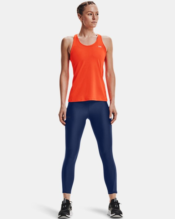 Damen HeatGear® Armour Racer Tanktop, Orange, pdpMainDesktop image number 0