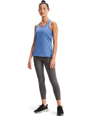 Details about  /NEW Under Armour HeatGear Womens Large Fitted Grey Racerback UA Running Tank Top