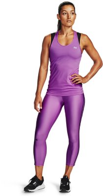 Under Armour HeatGear Racer Womens Training Vest Tank Top Purple