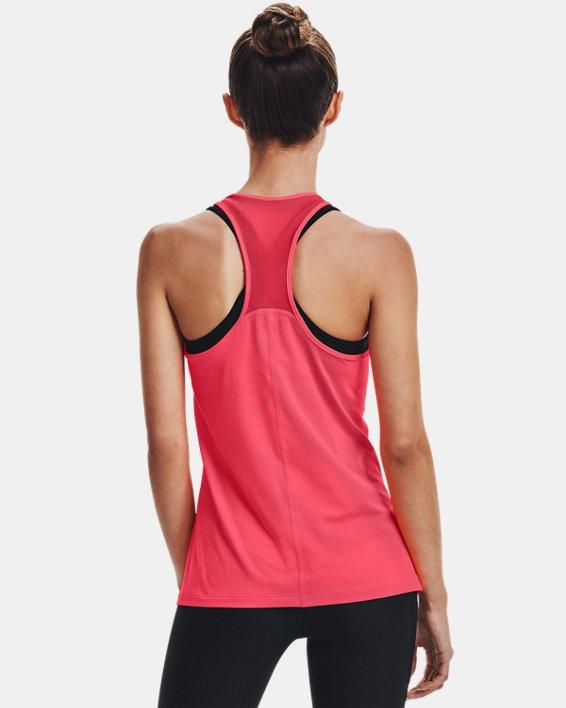 Women's HeatGear® Armour Racer Tank, Pink, pdpMainDesktop image number 2
