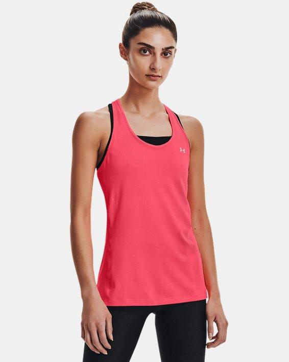 Women's HeatGear® Armour Racer Tank, Pink, pdpMainDesktop image number 1