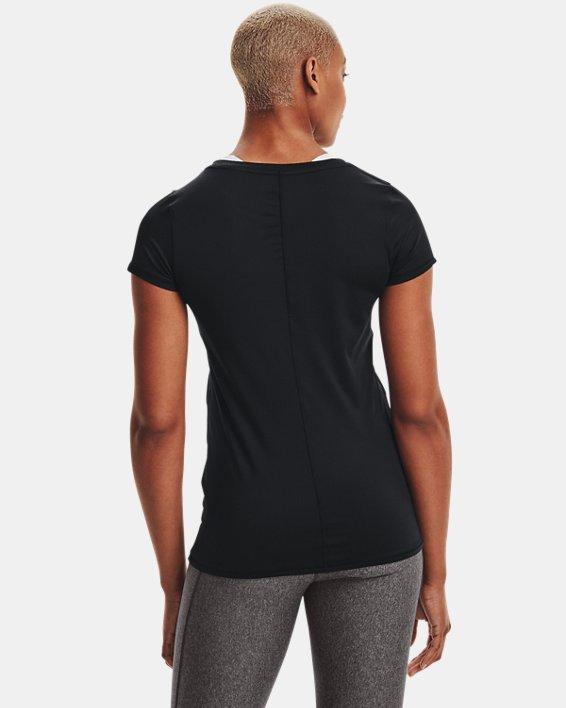 Women's HeatGear® Armour Short Sleeve, Black, pdpMainDesktop image number 2