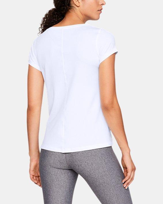 T-shirt à manches courtes HeatGear® Armour pour femme, White, pdpMainDesktop image number 2