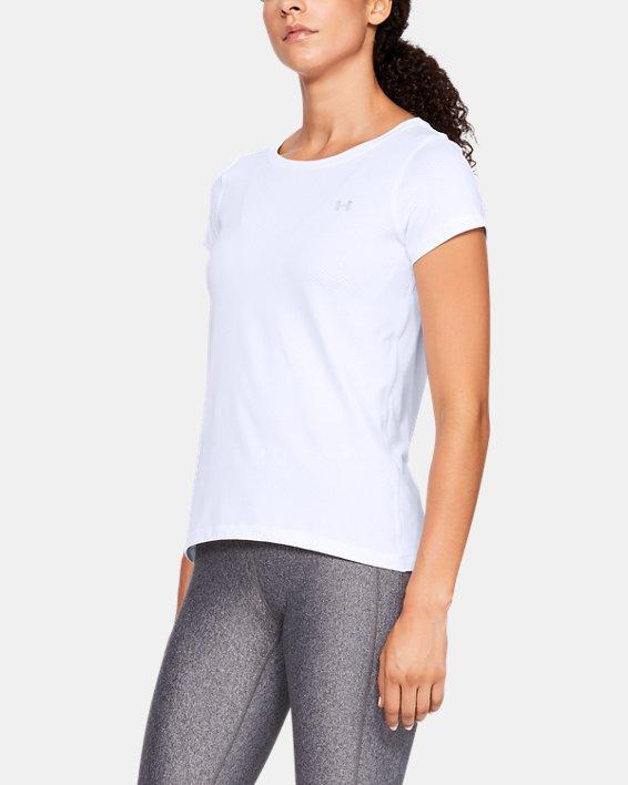 T-shirt à manches courtes HeatGear® Armour pour femme, White, pdpMainDesktop image number 0
