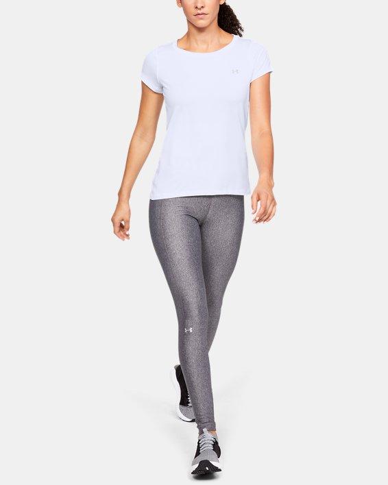 T-shirt à manches courtes HeatGear® Armour pour femme, White, pdpMainDesktop image number 1